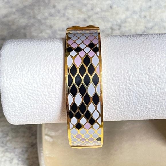 COACH 96196 3/4 inch SNAKESKIN BANGLE BRACELET
